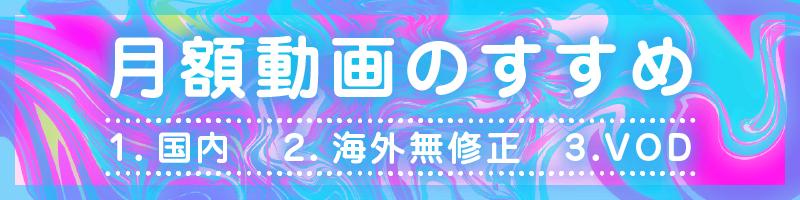 """""""おすすめ月額アダルト動画まとめ"""""""